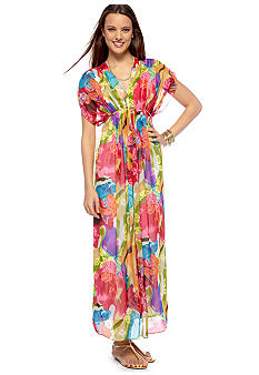 London Times Sheer Printed Maxi $109.00