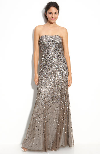 This dress from Nordstrom is gorgeous and perfect for a holiday party. It's the time of year for a little extra sequin and shine anyway!